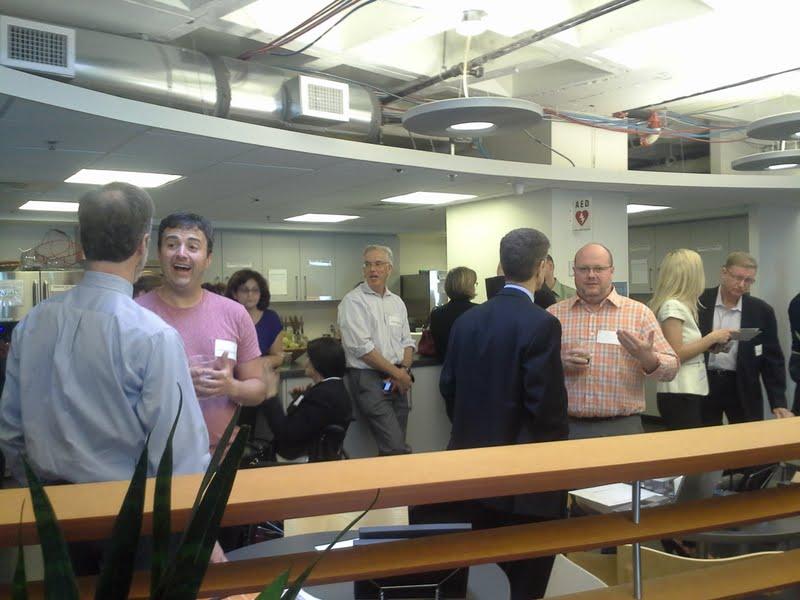 The scene inside today's Venture Cafe.