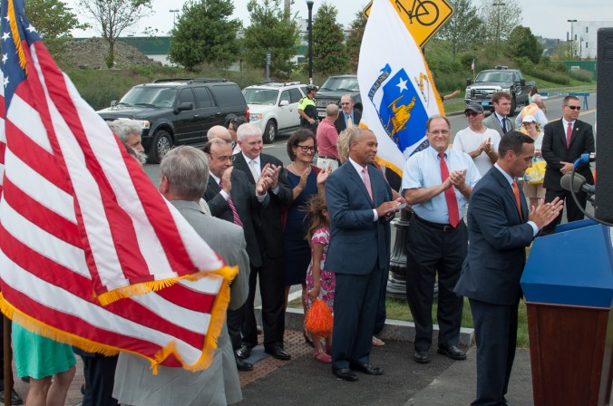 Governor Patrick, Congressman Capuano, Mayor Curtatone, and other elected officials were o