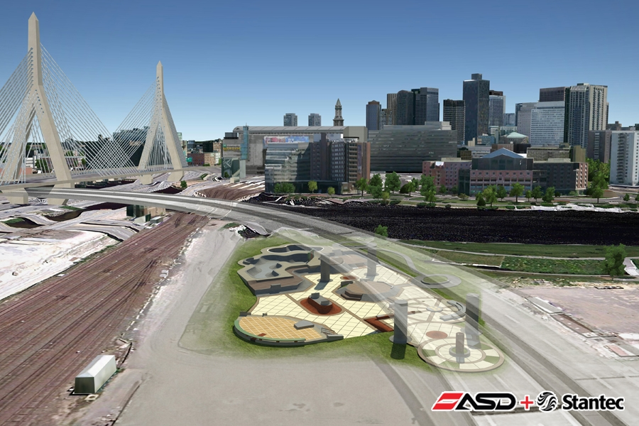 Artist's rendering of new Charles River Skatepark