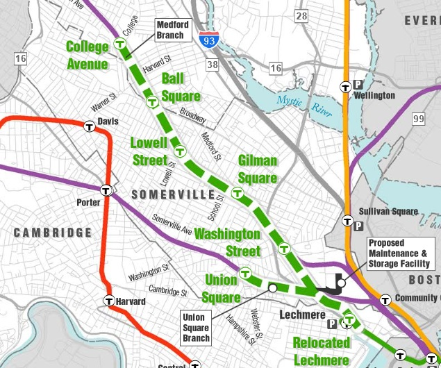 Green Line Extension Overnight Work Tonight At School St. Bridge in Somerville